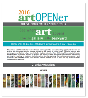 ArtOpener-St. Croix Valley Studio Tour