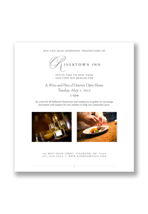 Jenifer Doherty - Rivertown Inn email marketing campaign