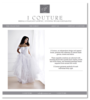 Jenifer Doherty web design - I Couture, NY, NY and Wayzata, MN