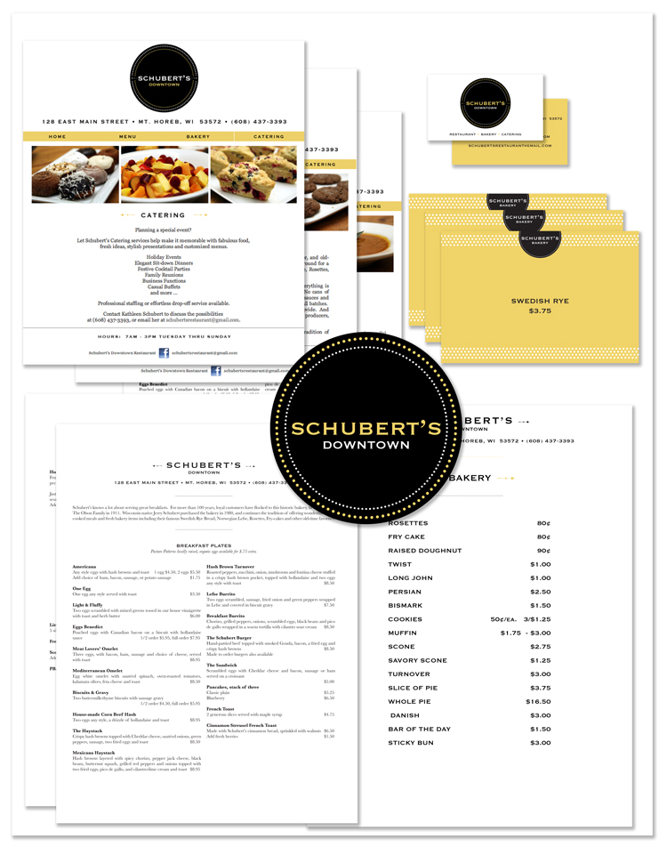 Jenifer Doherty - Schubert's Downtown Restaurant, Mt. Horeb, WI - Print Marketing