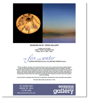 Jenifer Doherty web design and email marketing - Seasons on St. Croix Gallery, Hudson, WI