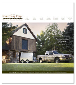 Jenifer Doherty web design - Somersong Forge, Somerset, WI